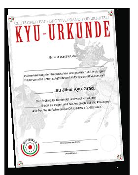 Neue Kyu-Urkunde