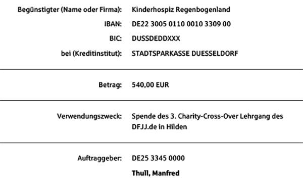 Spendennachweis